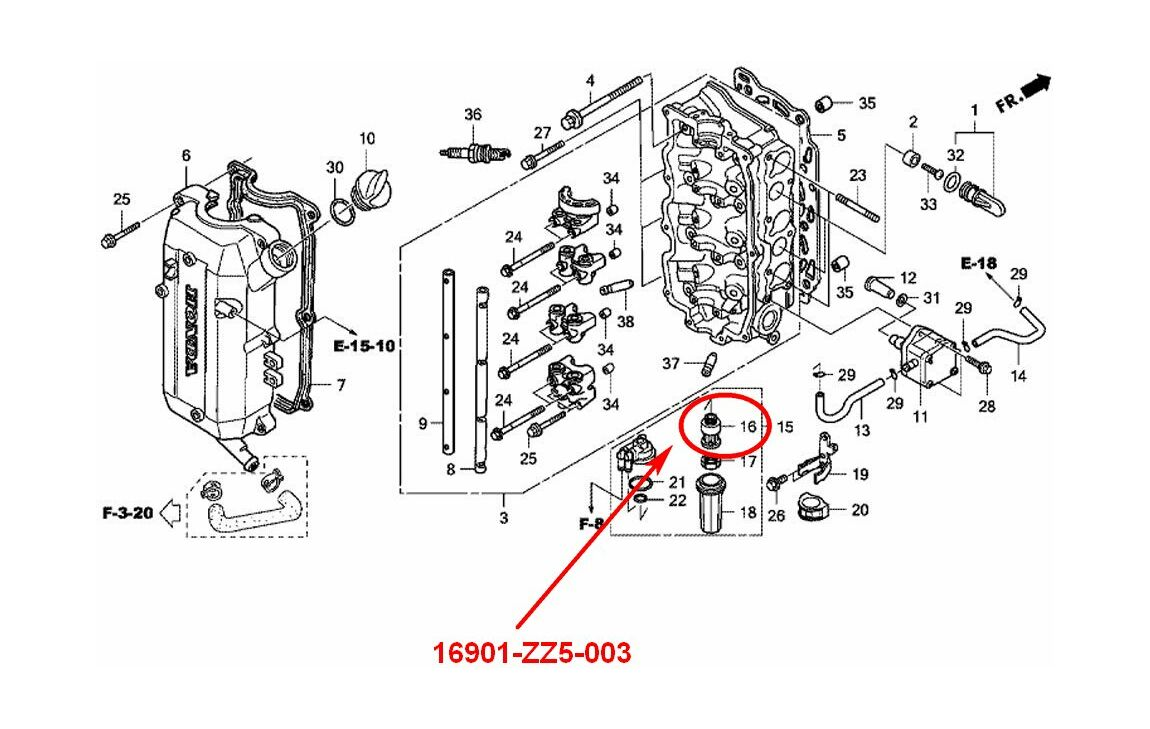 honda bf50a parts diagram