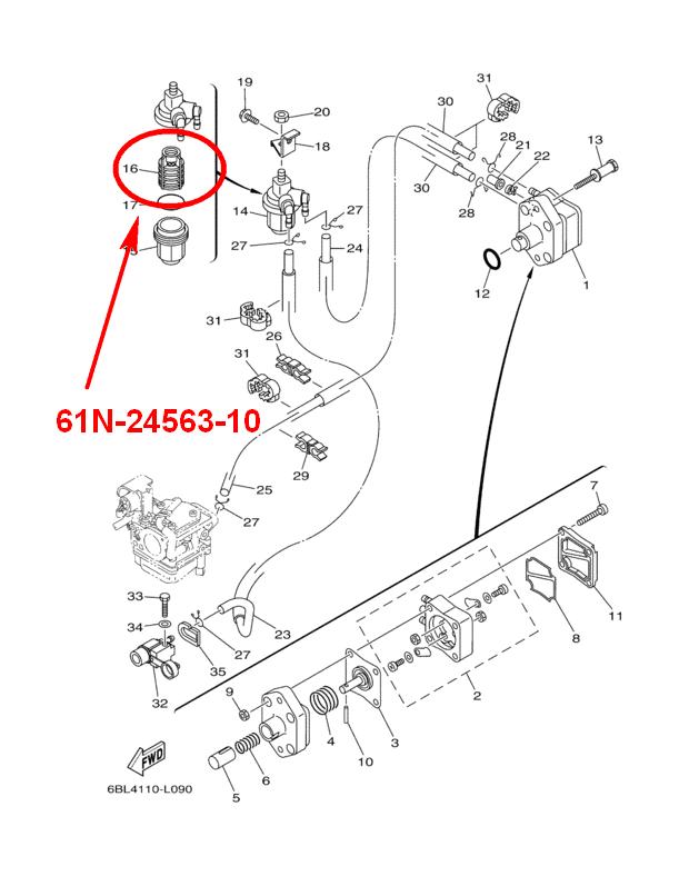 fuel filter yamaha 9 9-200 barcode  61n245631000