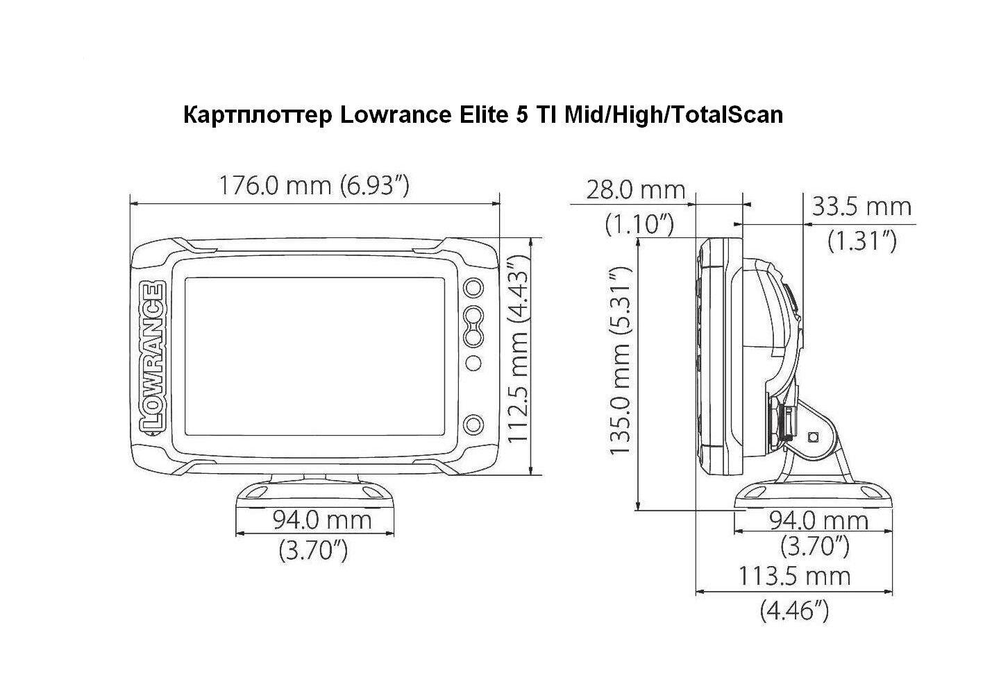 Chartplotter Lowrance Elite 5 Ti Mid High Totalscan Chirp Wiring Diagram 1 Next