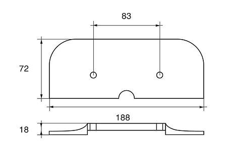 Zinc anode Polipodio to Drive unit MerCruiser Alpha I Gen II, price, ME013,  art-00106931( 2) | F25