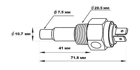 """Temperature gauge, thread 1/2 """"-14NPT, Description, KE00124,  art-00120916( 4)   F25"""
