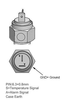 """Temperature gauge, thread 1/2 """"-14NPT, sale, KE00124,  art-00120916( 3)   F25"""