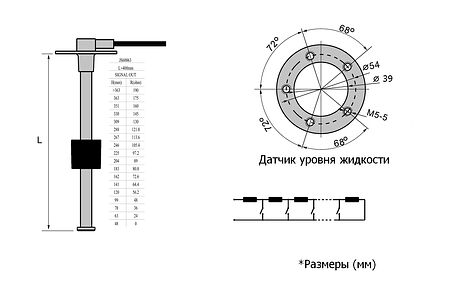 Level Sender 400 mm, 0-190 Ohm, price, JS60063, art-00089421(2)    F25