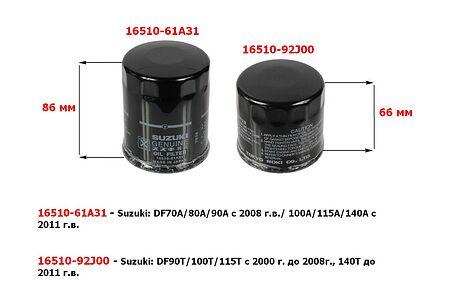 Oil filter for Suzuki DF140 until 2011 year, sale, 1651092J00000,  art-00004337( 3) | F25