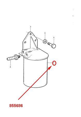 Fuel filter for Volvo Penta, sale, 855686,  art-00032817( 3)   F25