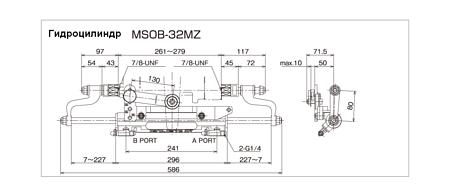 Hydraulic cylinder C32MZ, Description, MSOB32MZ,  art-00145592( 4)   F25
