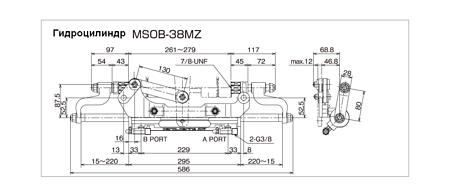 Hydraulic cylinder C38MZ, Description, MSOB38MZ,  art-00152971( 4) | F25