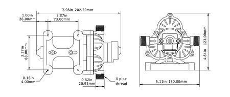Washdown Kit SeaFlo, 24V, 11.6 LPM, Description, SFWP203007033,  art-00141842( 4) | F25