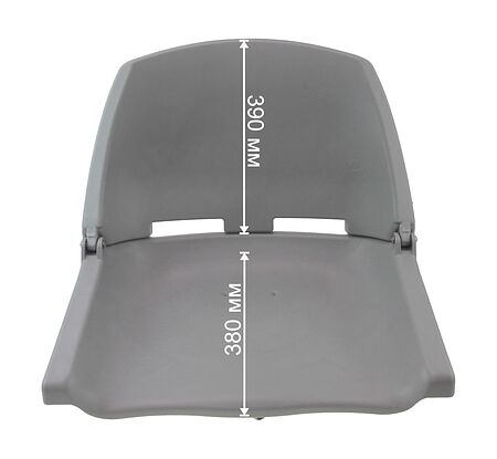 Plastic chair, grey, comparison, C12503G,  art-00018119( 6)   F25