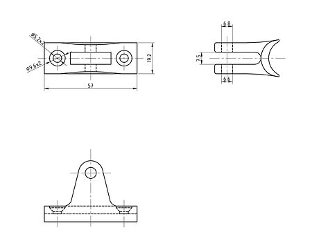 Bracket deck 90 degree, with a spring-loaded pin, concave base, price, 66200_Kof,  art-00035121( 2)   F25