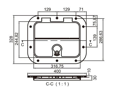 Inspection Hatch 400x320 mm, Photo, C13710,  art-00041459( 4) | F25