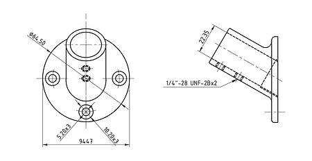 "Base racks handrail 7/8 ""(22.2 mm) 60 deg, round, price, 66040_Kof,  art-00059792( 2)   F25"