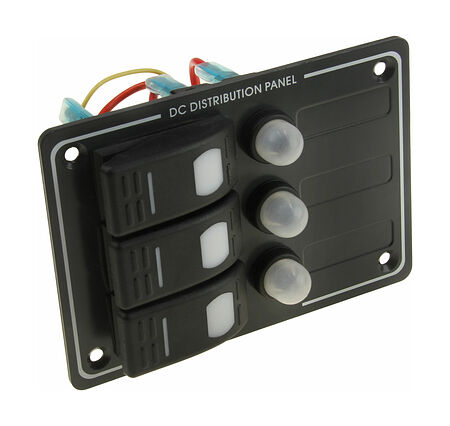 Switch Panel, 3 Switches, Vertical, Auto-Fuse Protection, price, AES121414A,  art-00117712( 1)   F25
