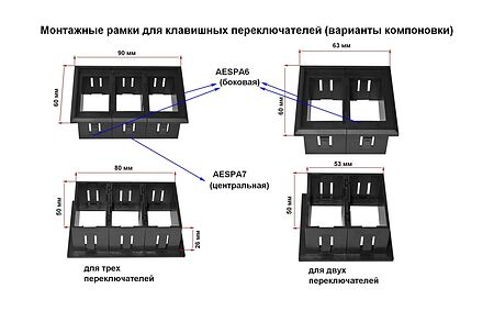 Central Panel for Switches AES11188H, Description, AESPA7,  art-00117661( 2) | F25