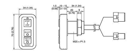 Control Panel for Suzuki DF150TG-175TG/DF200AP/250AP-300AP, Description, 3710098J11000  art-11042051(3)    F25
