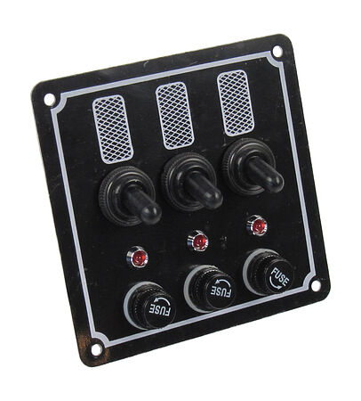 Switch Panel, 3 Switches, 12V, buy, 10503,  art-00004778( 1) | F25