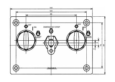 Dual engine switch panel Suzuki, price, 3710096J15000  art-11145890(2)    F25