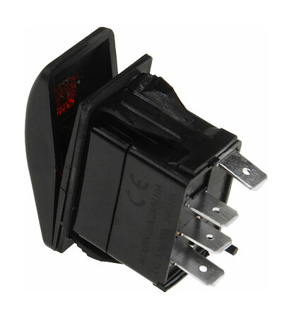 Contura Switch ON-ON 12V/20A, 4P, LED, price, AES111883PA,  art-00117645( 2) | F25