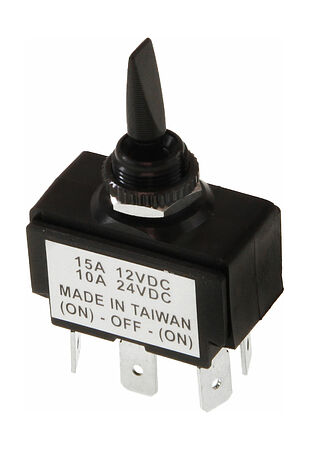 Toggle Switch (ON)-OFF-(ON) 12V/15A, 6 P, price, 30165perekljuch,  art-00007742( 2) | F25