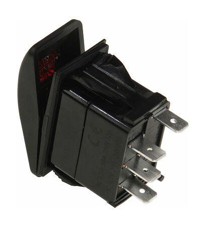 Contura Switch ON-OFF-ON 12V/20A, 4P, LED, price, AES111883PB,  art-00117647( 2)   F25