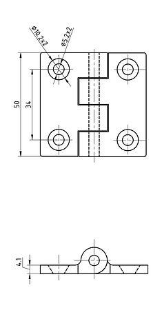 Door loop 51x51x4 mm, sale, 66164_Kof,  art-00017479( 2)   F25