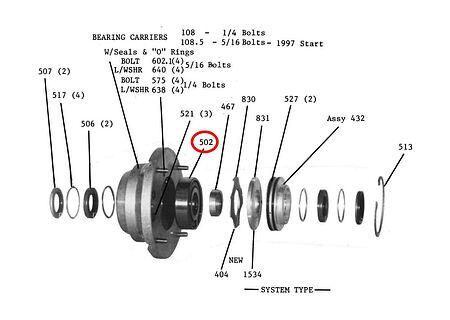 Jet drive nozzle bearing, sale, 502,  art-00095855( 2) | F25