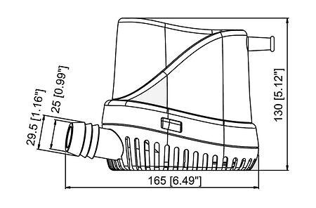 TMC Bilge Pump 1000 GPH, 12V, Automatic, price, 1002312,  art-00063212( 2) | F25