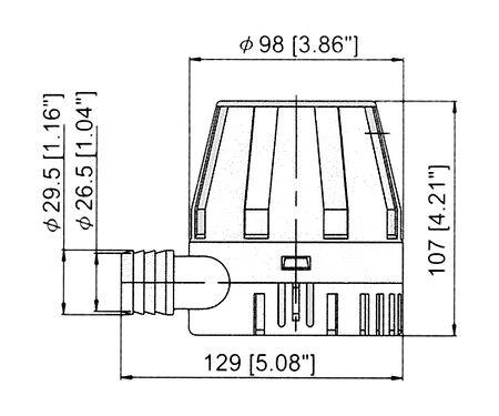 TMC Bilge Pump 900 GPH, 12V, price, 1003712,  art-00003727( 2) | F25