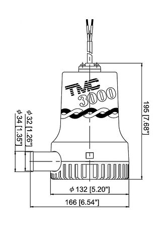 TMC Bilge Pump 3000 GPH, 24V, price, 1005924,  art-00002356( 2) | F25