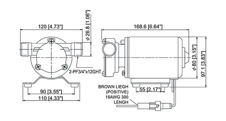 Water Pump TMC, 12 VDC, 400GPH, Photo, 1006112,  art-00073661( 4)   F25