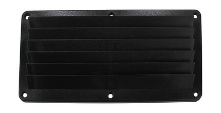 Louvered Vents 260x125x17 mm, Black, sale, 15205B,  art-00006020( 2) | F25