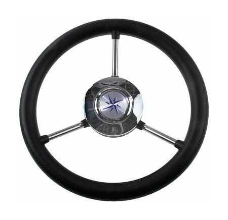 steering wheel LIPARI black rim silver  spokes d. 280 mm, buy, VN828022-01,  art-00120192( 1) | F25