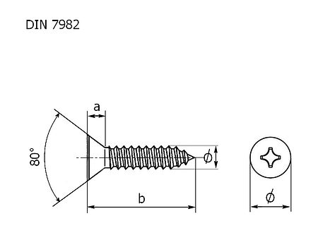 screws with countersunk head and cross recess A4  DIN7982, 9x45 packaging 1/10, sale, shurup_3,9kh45_A4_7982_upak,  art-00132600( 3) | F25