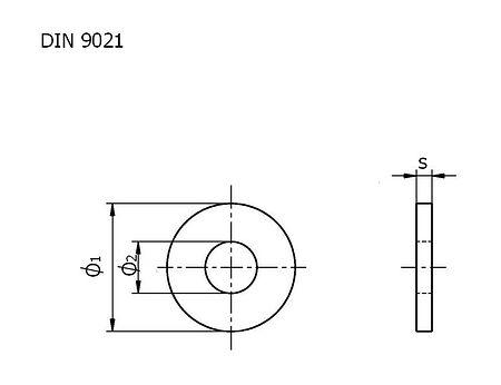 Washer A4  DIN9021 39.0 packing 1/10, sale, shajba_39_A4_9021_upak,  art-00132509( 3) | F25