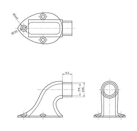 "Handrail rack for pipe 1 ""(25 mm), height 44 mm, price, 66149_Kof,  art-00090095( 2)   F25"