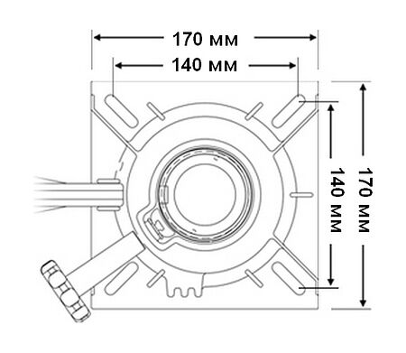 Fixed Height Pedestal, 330mm, Description, 1600607,  art-00119560( 4)   F25