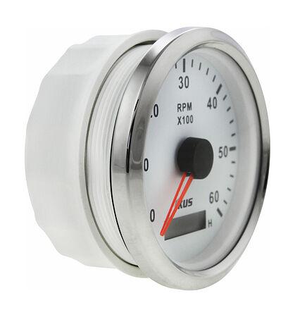 Tachometer 6000 RPM divider 0.5-250, White/Chrome, price, JMV00245_KY07101,  art-00120898( 2)   F25