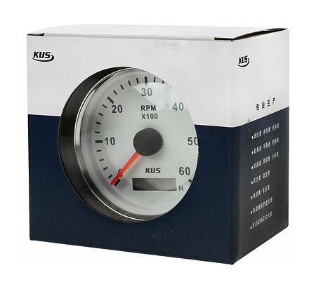 Tachometer 6000 RPM divider 0.5-250, White/Chrome, Photo, JMV00245_KY07101,  art-00120898( 5)   F25