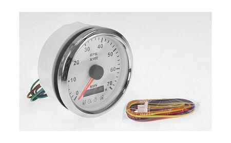 Tachometer 0-7000 RPM divisor 1-10, White/Chrome, Monitor Gauge, sale, KY07123,  art-00125514( 2) | F25