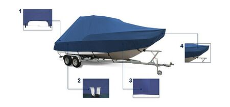 Boat Cover for Boat 7.0-7.6 m, Photo, MA5013,  art-00116249( 5) | F25
