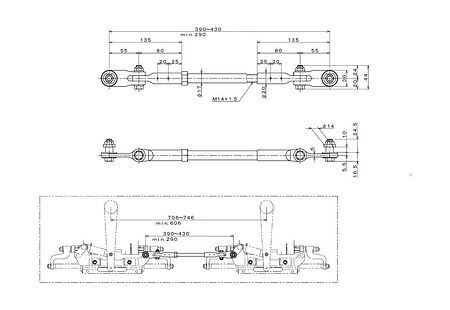Draglink for C38MZ, two cylinders, 2 engines, Description, TRA400A,  art-00096843( 2) | F25
