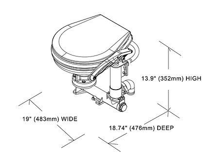 Boat Manual Pump Toilet, sale, 15490,  art-00101246( 2)   F25
