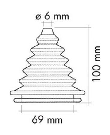 Cable Grommet Black, d. 69 mm, price, CU2818  art-00087763(2)  | F25