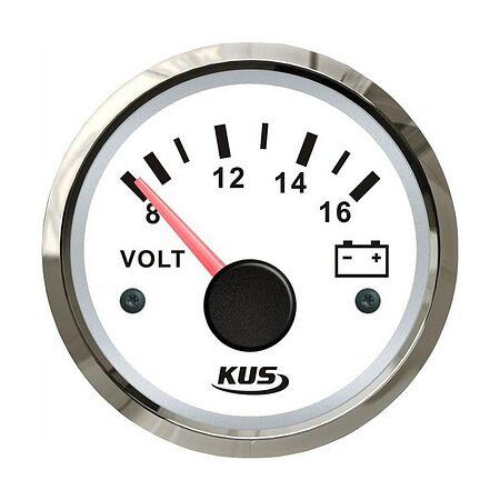 Voltmeter 8-16V, White /Chrome, buy, JMV00273_KY13100,  art-00072857( 1)   F25