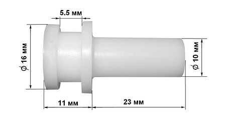 Sleeve with flanged, plastic 17x35 mm, price, ,  art-00048130( 1) | F25