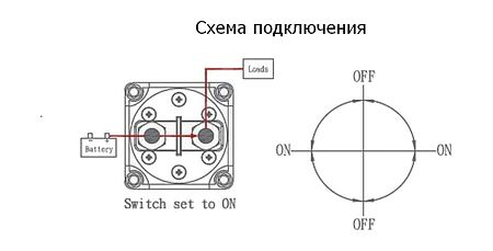 """Battery Switch  """"ON-OFF-ON-OFF"""" 12-48 V, price, AES121128C,  art-00117747( 2) 