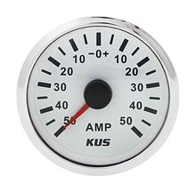 Ammeter, White/Chrome