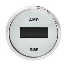 Digital ammeter, White/Chrome