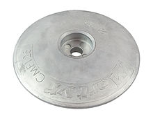 Zinc anode Martyr, for transom, 125 mm.