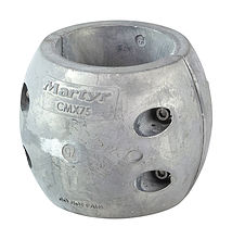 Zinc anode Martyr for propeller shaft assemblies, D75mm.